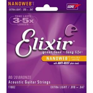 Jeu cordes Elixir Nanoweb 11002 XL 10-47