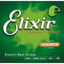 Jeu cordes basse  Elixir Nanoweb 14052 Light  45-100