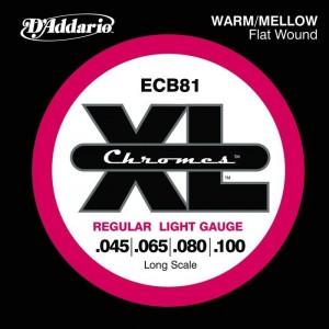 Jeu cordes D'addario Basse Chromes ECB81 45-100