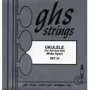 Jeu cordes GHS  Ukulele white nylon