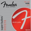 Jeu cordes Fender Super Bullets 9-42 3250L