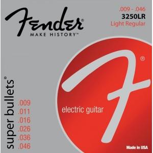 Jeu cordes Fender Super Bullets 9-46 3250LR