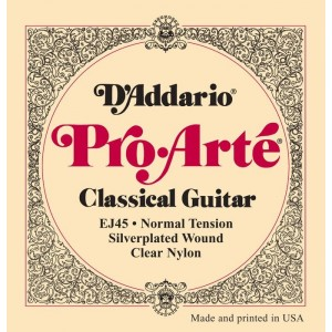 Jeu cordes D'addario Pro Arte EJ45 Normal tension