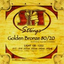 Jeu cordes SIT Golden bronze 80/20 GB1252 Light  12-52
