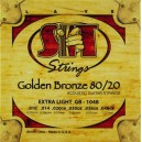 Jeu cordes SIT Golden bronze 80/20 GB1048 Extra  Light  10-48