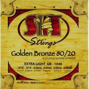 Jeu cordes SIT Golden bronze 80/20 GB1048 Extra  Light  10-48