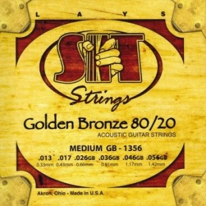 Jeu cordes SIT Golden bronze 80/20 GB1356 Medium 13-56