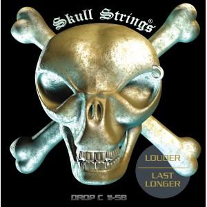 Jeu cordes Skull Strings Drop C 11-58