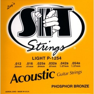 Jeu cordes SIT Phosphor bronze P1254 Light  12-52