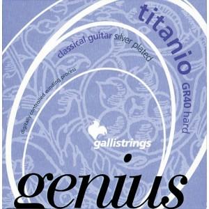 Jeu cordes Galli Genius Titanio GR40  Tension forte