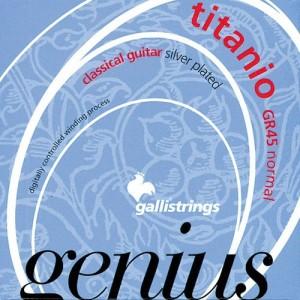 Jeu cordes Galli Genius Titanio GR45 Tension Normale