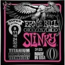Jeu cordes Ernie Ball 3123 Titanium coated Super Slinky 9-42