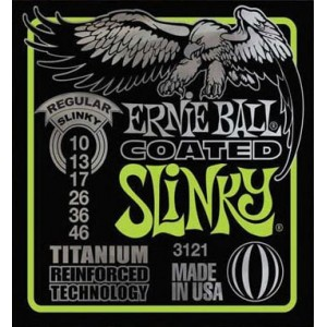 Jeu cordes Ernie Ball 3121 Titanium coated Regular Slinky 10-46
