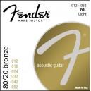 Jeu cordes Fender acoustic 80/20 Bronze 70L 12-52