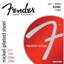 Jeu cordes Fender Mandolin nickel plated steel Light 2250L