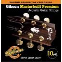 Jeu cordes Gibson Masterbuilt Premium 10-47