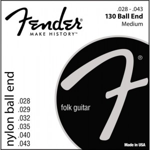 Jeu cordes Fender Nylon ball end 28-43