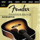 Jeu cordes Fender acoustic 60L 12-53