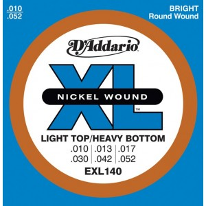 Jeu cordes D'addario Light Top Heavy bottom EXL140 10-52