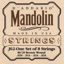 Jeu cordes D'addario Mandolin J62