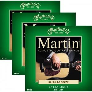 Jeu cordes Martin M170-3 Pack  10-47
